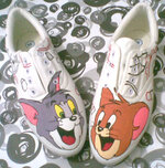 Sepatu Lukis Tom and Jerry