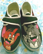 Sepatu Lukis Tom and Jerry 3