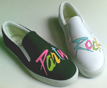 sepatu lukis Party Rock Colour